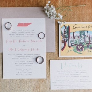 DayNa + Mark Wedding Invitation