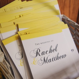 Rachel + Matthew Wedding Programs