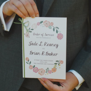 Jade + Brian Wedding Programs