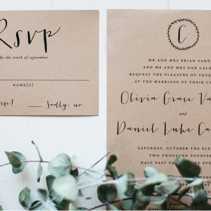 Olivia + Daniel Wedding Invitations