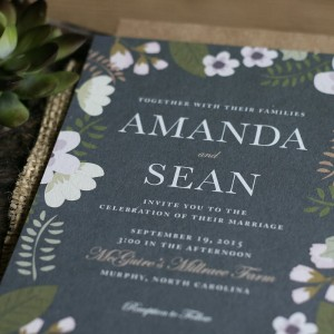 Amanda + Sean Wedding Invitations