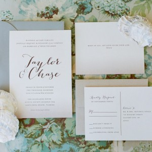 Taylor + Chase Wedding Invitations