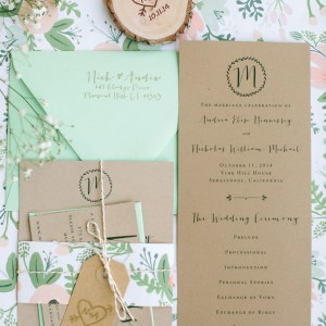Andrea + Nickolas Wedding Invitations and Programs