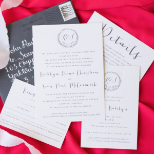 Katelyn + Sean Wedding Invitations