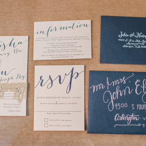 Natasha + John's Navy Wedding Suite