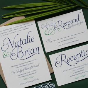 Natalie & Brian Wedding Invitations