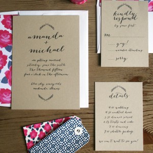 Amanda + Michael Wedding Invitations