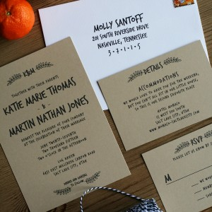 Katie + Martin Wedding Invitations
